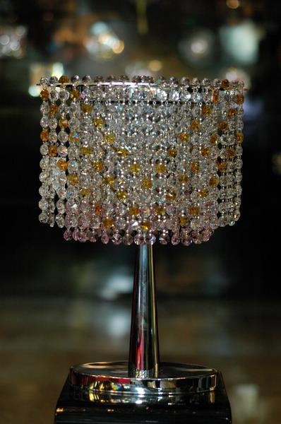 โคมไฟตั้งโต๊ะ Crystal WL No.14078-300CH-G