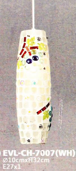โคมไฟห้อยเดี่ยว EVL No.CH-7007(WH)